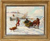 THOMAS WILBERFORCE MITCHELL CANADA OIL ON BOARD