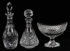 WATERFORD  EDINBURGH CRYSTAL DECANTERS  COMPOTE
