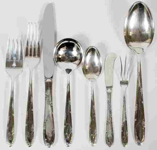 TOWLE 'MADEIRA' STERLING FLATWARE SET 59 PIECES