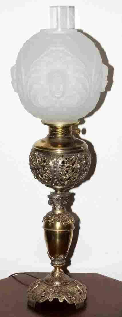 ROCHESTER CO. AMERICAN VICTORIAN OIL LAMP 19TH C.