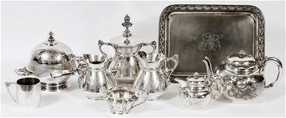 AMERICAN VICTORIAN SERVING PIECES 19TH C.
