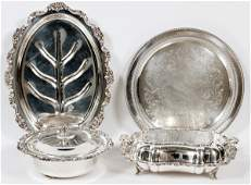 POOLE SILVER CO  OTHER SERVING PIECES FOUR