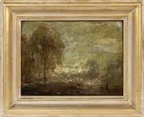 DOUGLAS ARTHUR TEED OIL ON CANVAS ON BOARD 1917