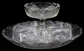 WATERFORD CRYSTAL CONDIMENT SET EARLY 19THC 8 PCS