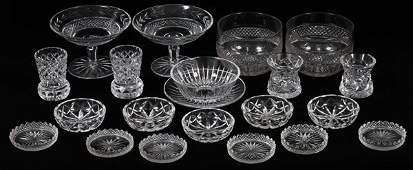 WATERFORD VAL ST. LAMBERT & OTHER CRYSTAL TABLEWARE