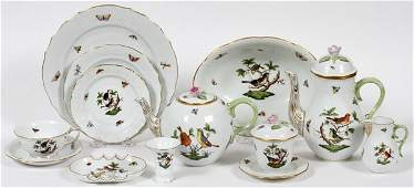 HEREND ROTHSCHILD BIRD PORCELAIN DINNER SET 67