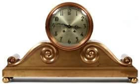 SCRIBNERLOEHR CO BRONZE CHELSEA SHIPS BELL CLOCK
