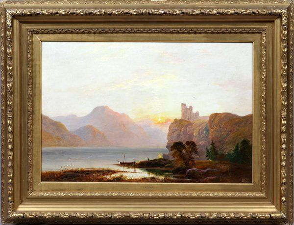 GEORGE BLACKIE STICKS ORIGINAL OIL ON CANVAS C.1900