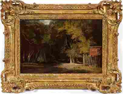 AFTER JOHN CONSTABLE OIL ON WOOD PANEL 1829