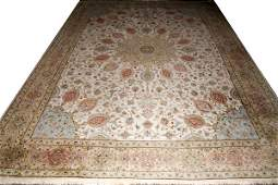 TABRIZ PERSIAN HAND WOVEN WOOL CARPET