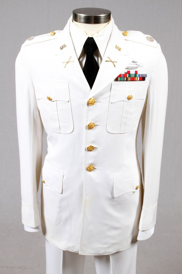 U.S. ARMY PRE-WWII TROPICAL DRESS WHITE UNIFORM - 2