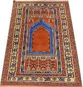 TURKISH KHULA HAND WOVEN WOOL PRAYER RUG