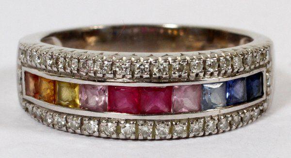 GOLD,DIAMOND,TOPAZ,CITRINE,AMETHYST & GARNET RING