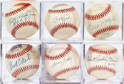 AMERICAN AND NEGRO LEAGUE AUTOGRAPHED BASEBALLS