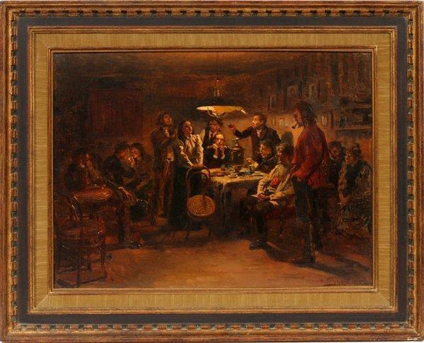 VLADIMIR MAKOVSKY OIL ON CANVAS 1895