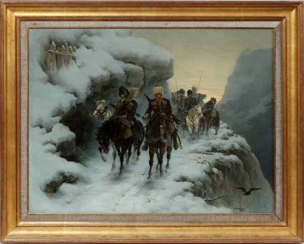 R. WENIKOFF OIL ON CANVAS 1886