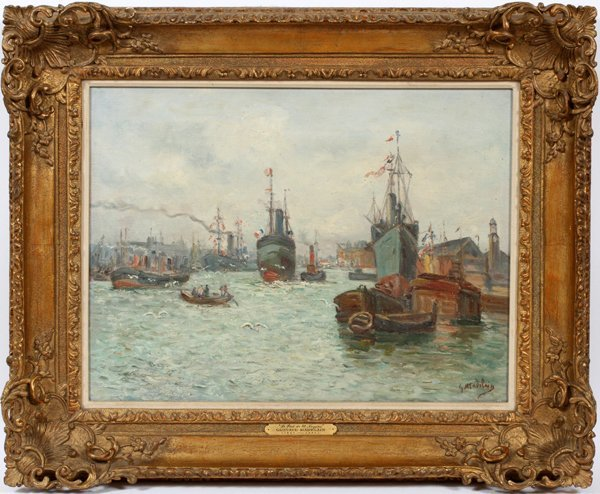 GUSTAVE MADELAIN OIL ON CANVAS