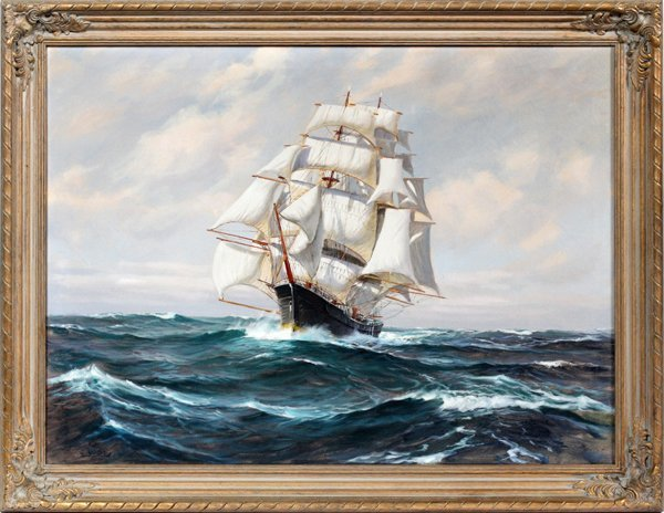 CHARLES VICKERY OIL ON CANVAS