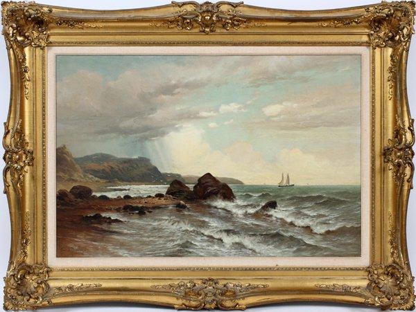 FRANK E. BROMLEY OIL ON BOARD