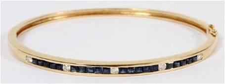 14 KT. GOLD DIAMOND & SAPPHIRE BRACELET
