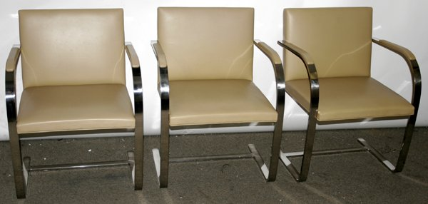 110007: *KNOLL BRUNO CHAIRS, TEN OPEN ARM CHAIRS