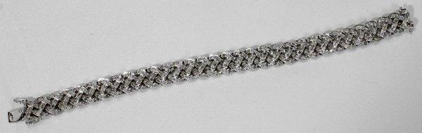 110012: DIAMOND & WHITE GOLD BRACELET
