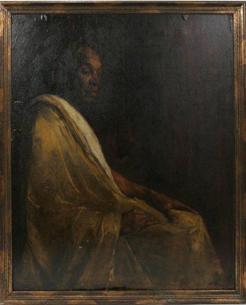 110019: JULIUS ROLSHOVEN, OIL/CANVAS, IROQUOIS CHIEF