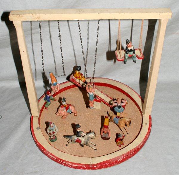 110022: GERMAN WOOD CIRCUS RING, PERFORMERS & ANIMALS
