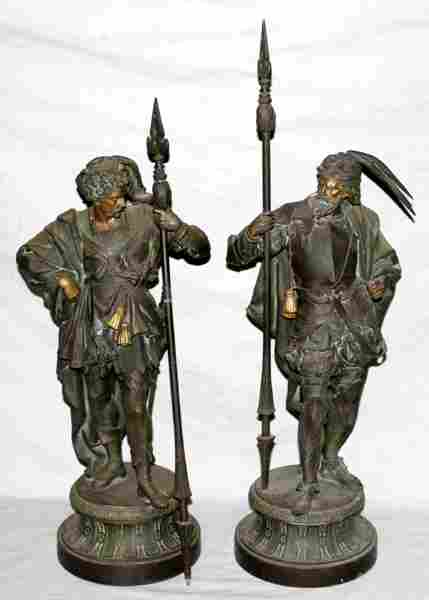 110185: FRENCH SPELTER SCULPTURES OF CONQUISTADORS