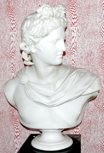 111003: FLORENTINE CARVED MARBLE BUST, 'APOLLO'