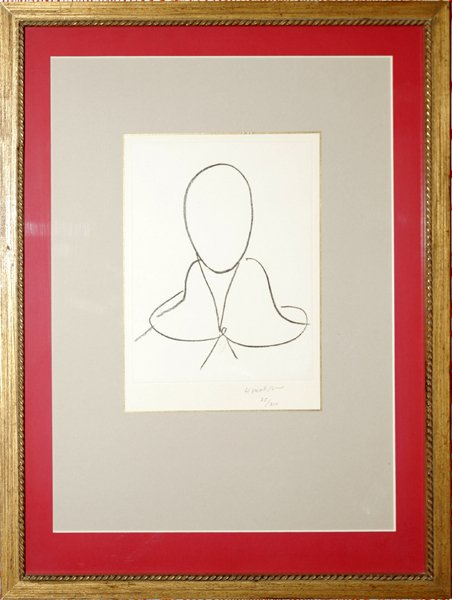 111008: H. MATISSE, LITHOGRAPH, STUDY FOR S. DOMINIQUE
