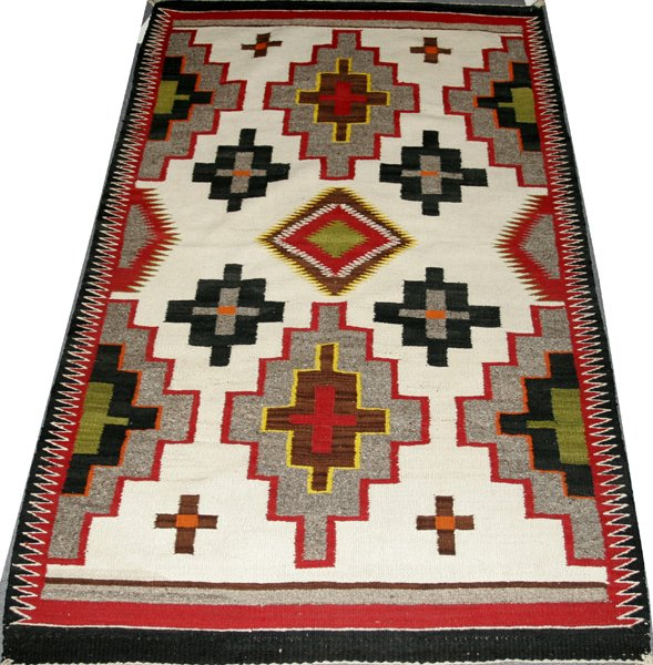 "111191: NAVAJO CARPET BY TWO GREY HILLS, 5' 4"" X 3' 4"""