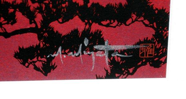 111431: MASAYUKI MIYATA, SILKSCREEN, 'RED MT. FUJI' - 2