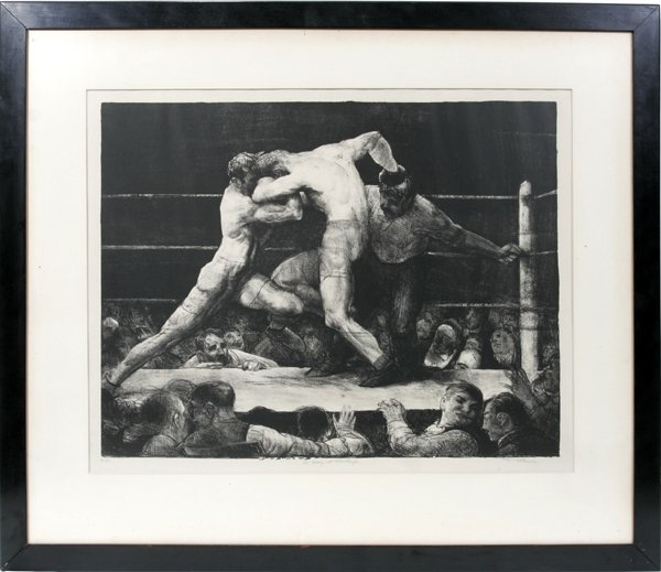 112006: GEORGE BELLOWS, LITHOGRAPH, STAG AT SHARKEY'S