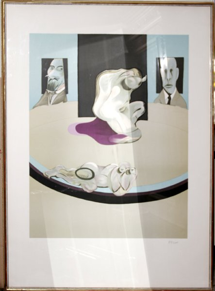 112010: FRANCIS BACON, LITHO POSTER, MUSEUM OF ART