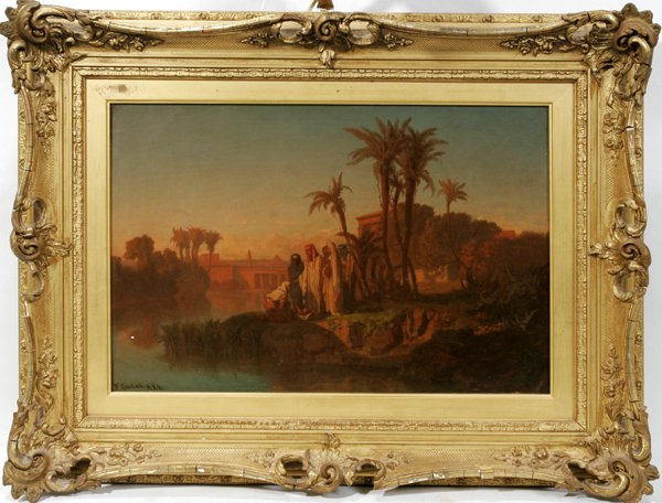 112012: FREDERICK GOODALL R.A., OIL ON CANVAS, RIVER
