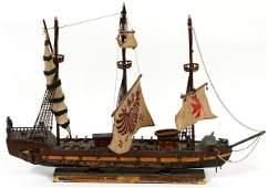 SCALE MODEL SAILING SHIP 'GALEAZA'