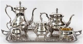 WILCOX INTERNATIONAL SILVER PLATE TEA SET 6 PIECES