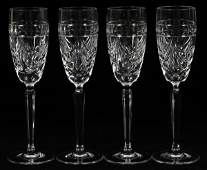 WATERFORD 'OVERTURE' CRYSTAL CHAMPAGNE FLUTES