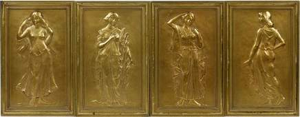 CAST BRONZE PLAQUES FROM JL HUDSON ELEVATOR