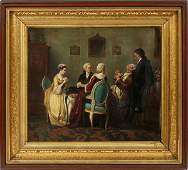 FRENCH STYLE OIL ON CANVAS 19TH C