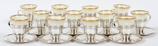 GORHAM STERLING SILVER & LENOX CUPS & SAUCERS