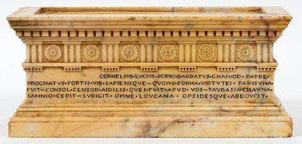ITALIAN GRAND TOUR CARVED MARBLE RELIQUARY