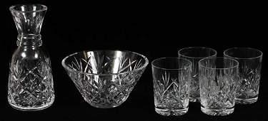 WATERFORD CRYSTAL TABLEWARE & STEMWARE, SIX PIECES