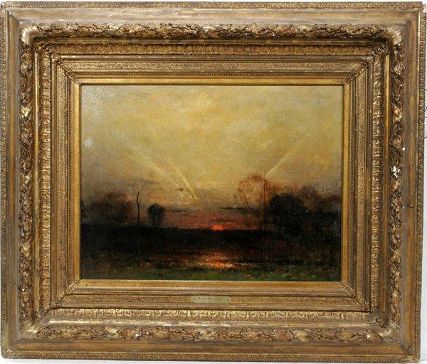 122018: FELIX RUSSMAN, OIL ON CANVAS, 'SUNRAYS'