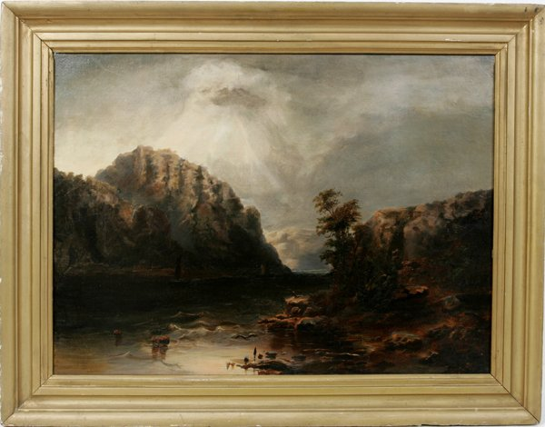 122023: AMERICAN SCHOOL OIL ON CANVAS, ROCKY MOUNTAINS