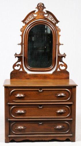 Victorian Mahogany Dresser W/ Mirror C. 1880