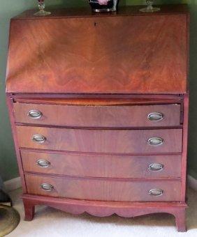 Georgian Style Mahogany Slant-front Desk 20th C.