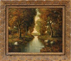 Murio Oil On Canvas Landscape