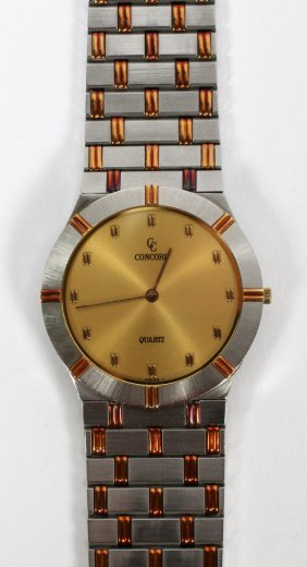 Concord Gentleman's 14kt And Stainless Steel Watch